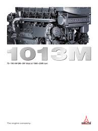 1013m the marine engine deutz pdf catalogue technical