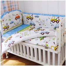 breathable sheets promotion 6pcs baby bedding set crib sheets breathable cotton