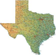Blank Texas Map by Texas Map