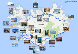 map with attractions best attractions by the ring road of iceland guide to iceland