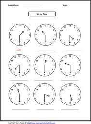 1st grade math worksheets oh clock clock worksheets
