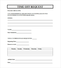 employee vacation request form template download sample resume