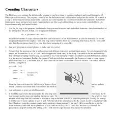 Count Characters In Access Counting Characters The File Count Java Contains T Chegg Com