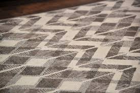 Brown And Gray Area Rug Modern Trendy Gray U0026 White Wavy Zig Zag Pattern Fringe Area Rug