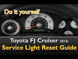 2012 toyota maintenance light reset toyota fj cruiser service light reset