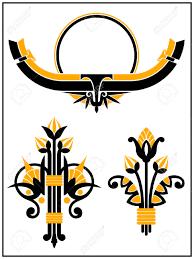 art deco design art deco design elements collection royalty free cliparts vectors