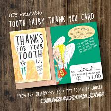 diy printable tooth fairy thank you card from the children u0027s book