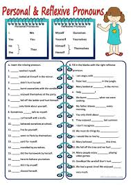 26 free esl reflexive pronouns worksheets