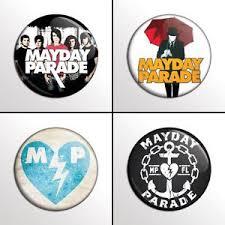 parade pins 4 mayday parade 1 band pinback buttons pins badges set