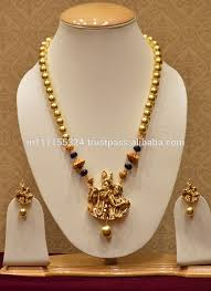 pearls necklace set images Golden pearls necklace set temple jewellery with radha krishna jpg