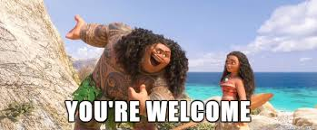 Your Welcome Meme - you re welcome moana meme on imgur