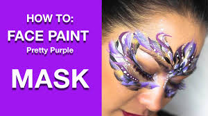 purple mask how to paint pretty purple girly mask masquerade
