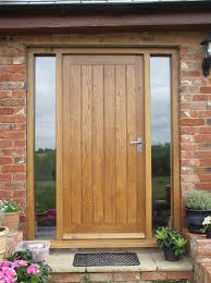 Solid Oak Exterior Doors Solid Oak Front Door With Side Lights Oak Door Bespoke Door