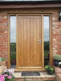 Oak Exterior Doors Solid Oak Front Door With Side Lights Oak Door Bespoke Door