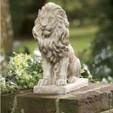 lion garden statue lion statue i want several of these amid the gardens of my future