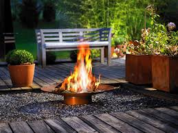 outside fireplace garden design