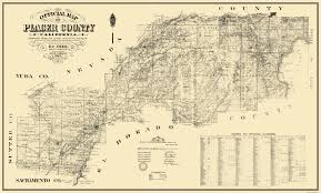 River Ranch Florida Map by Old County Map Placer California Landowner 1887