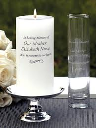 In Loving Memory Vase Unity Candles