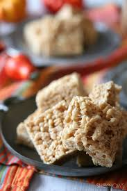 elevate your rice krispies treats with pumpkin spice and browned