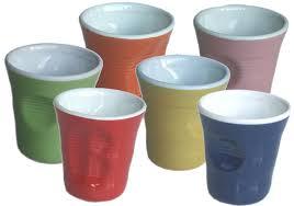 bicchieri in ceramica set 6 bicchieri accartocciati in ceramica caffettiere moka