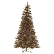 9 unlit artificial tree brown tinsel metal mix target