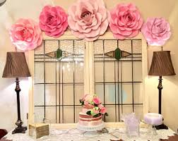 paper flower backdrop roses shabby chic wedding decor