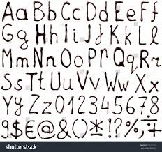 vector alphabet letters numbers symbols made stock vector
