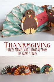 turkey name card tutorial the happy scraps