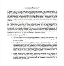 doc 585600 sample executive summary report u2013 summary report