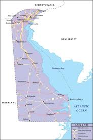 Cape Henlopen State Park Map by Map Of Delaware State Map Of Usa