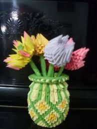 3d Origami Flower Vase Tutorial 3d Origami Flower Vase U2013 Comot