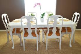 How To Cover A Dining Room Chair Remodelaholic Refinished Dining Room Table And Chair Re
