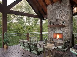 deck with fireplace 50 images best shape