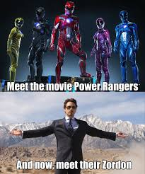 Power Ranger Meme - meet the movie power rangers and now meet their zordon power