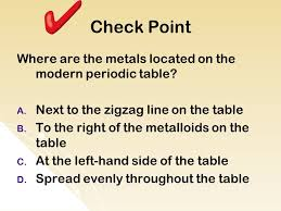 Where Are The Metals Located On The Periodic Table Objective Tlw Interpret The Arrangement Of The Periodic Table