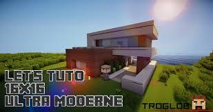 Modern House by Minecraft Let U0027s Tuto 16x16 Ultra Modern House Youtube