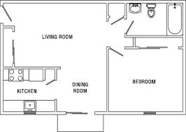 one bedroom apartment floor plan home design