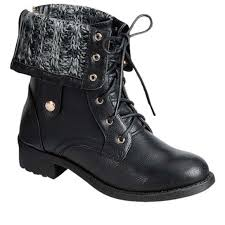 sweater lined foldover combat boots 46 shoes sweater lined foldover combat boots from milanxo s