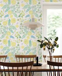 Watercolor Wallpaper For Walls by Spring Garden Flowers Yellow Wallpaper Peel And Stick