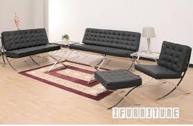 barcelona chair and ottoman italian leather replica