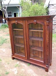 Oak Revolving Bookcase Antique Office Furniture