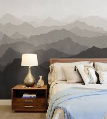 mountain mural wall art wallpaper peel and stick mountain mural wall art wallpaper warm grey peel and stick