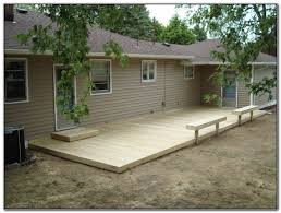 ground level deck ideas round designs
