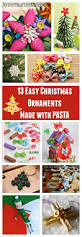 13 easy christmas ornaments for kids to make with pasta artsy
