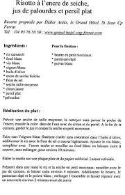 recette de cuisine petit chef recette grand chef étoilé recette risotto à l encre