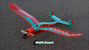 bmjr swami old timer rc plane with crash youtube