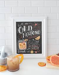 old fashioned recipe lily u0026 val u2013 call me old fashioned recipe chalkboard art print