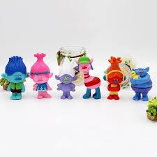 6pcs sets tolls toys doll ornaments troll doll 7 5cm