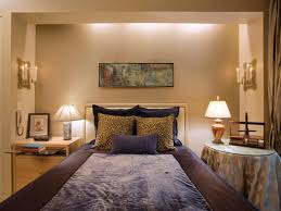 exterior interesting soffit lighting with brown bed and round