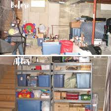 full basement before and after organize my clutter